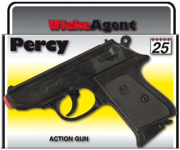 PROMO Pistolet Percy Agent 25-shot 158mm w pudełku 0380