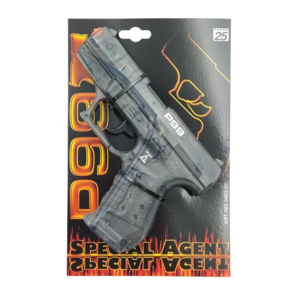 Pistolet P99 Special Agent 25-shot transparent 180mm 0483-07