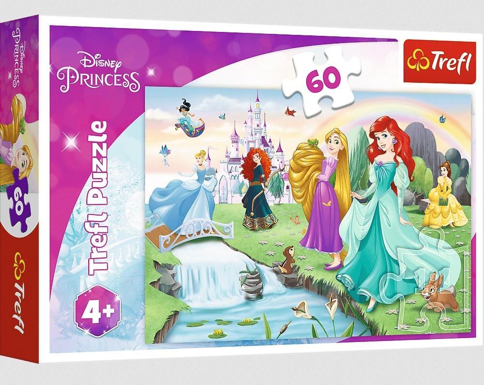 Puzzle 60 Poznaj Księżniczki TREFL