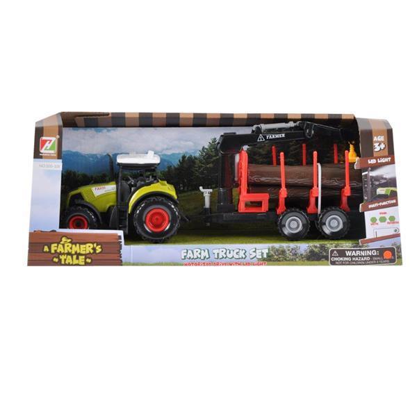 Traktor światło dźwięk + akcesoria 39x15x11cm MC