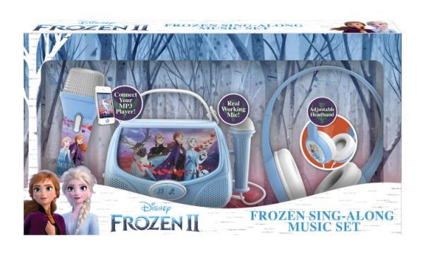 Frozen 2 Gift Box ze słuchawkami, Boombox karaoke, mikrofonem MP3 ze światłami FR-V303
