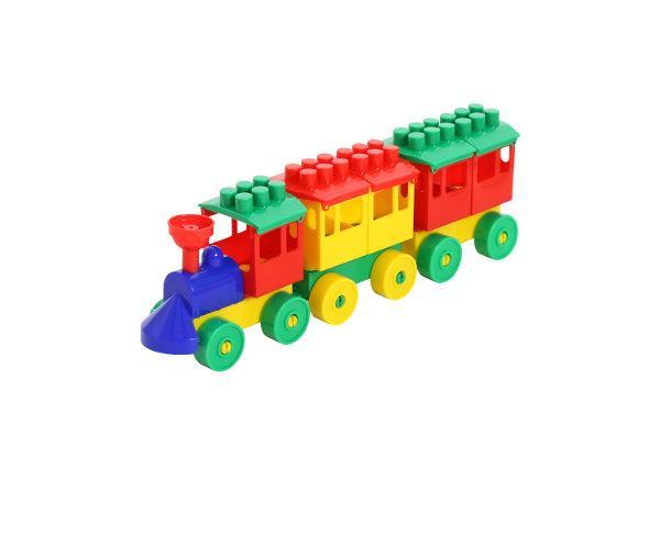 Polesie 36704 Lokomotywa z 2 wagonami w siatce