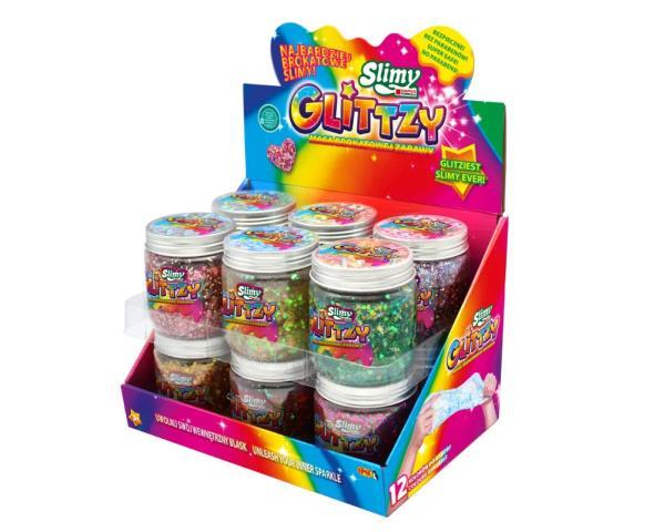 EP Slimy Glitzi słoiki 240g mix 12 wzorów 03853 cena za 1 szt