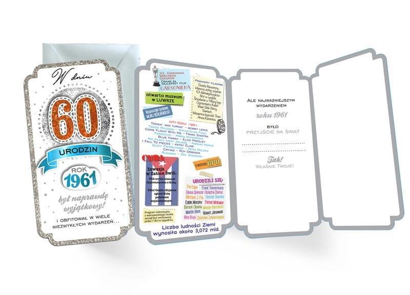 Karnet PM-174 Urodziny 60 2021