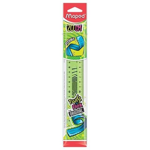 Linijka Twist'n Flex niełamliwa20 cm zielona