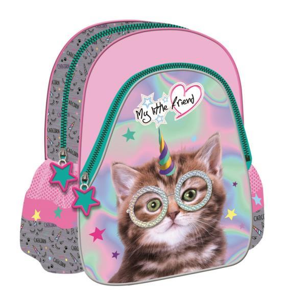 Plecak szkolno - wycieczkowy 12'' trójkątny My Little Friend - Kot CACA