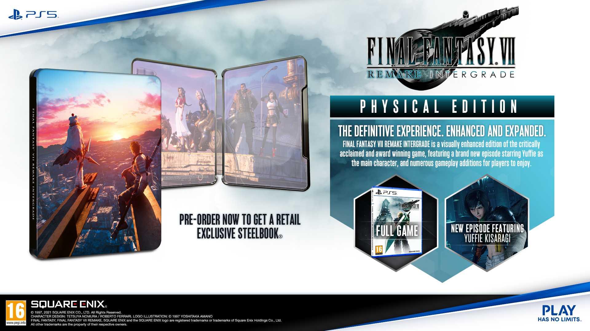 Final Fantasy VII Remake Intergrade - Steelbook