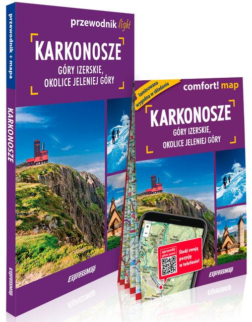 Karkonosze, Góry Izerskie, okolice Jeleniej Góry light: przewodnik + mapa