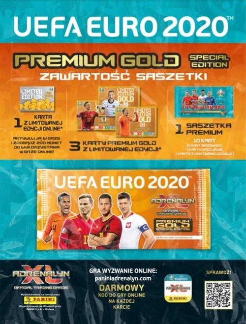 Karty UEFA Euro 2020 Premium Gold saszetka