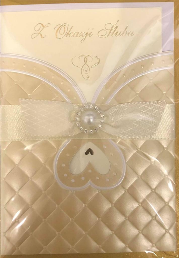 Karnet ślubny B6 Premium 46 + koperta