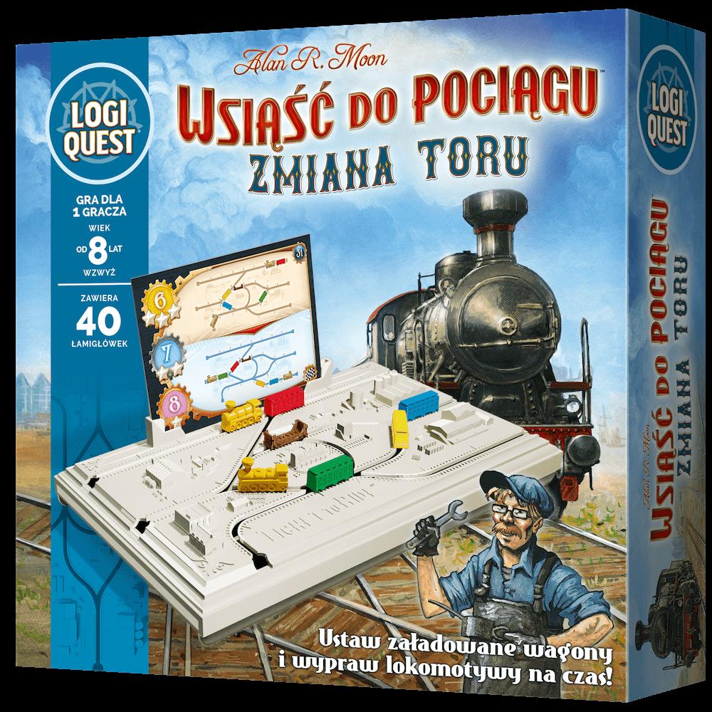 Logiquest: Wsiąść do Pociągu - Zmiana toru (gra planszowa)