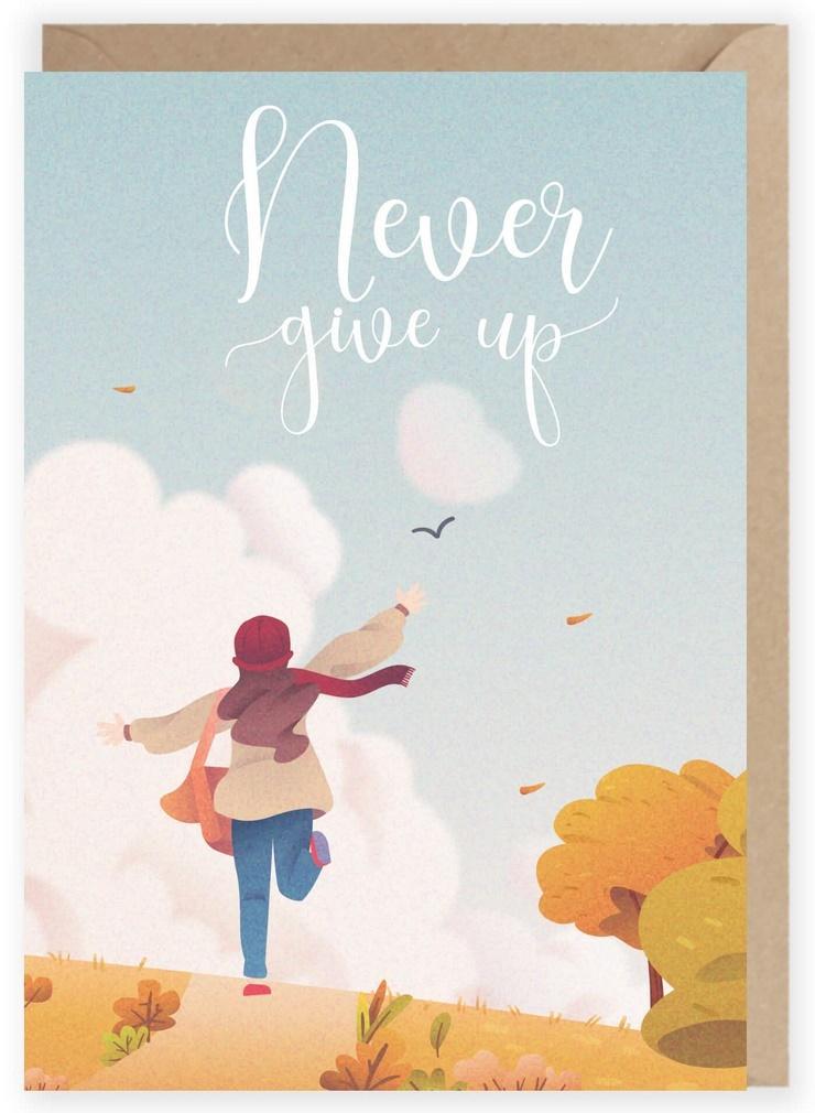 Kartka okolicznościowa Never Give up K107