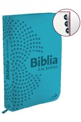 Biblia dla kobiet - turkusowa (na zamek)