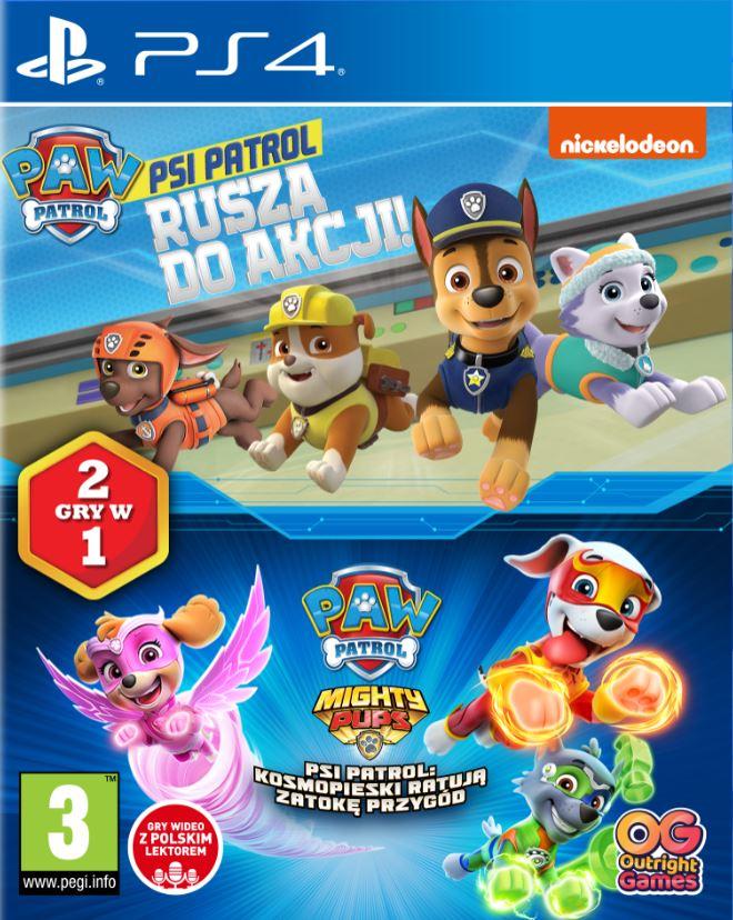 Psi Patrol 2 gry w 1 (Rusza do akcji & Kosmopieski ratują Zatokę Przygód) (PS4) + Bańki mydlane 55ml PAW PATROL Psi Patrol p36 My Bubble cena za 1szt.