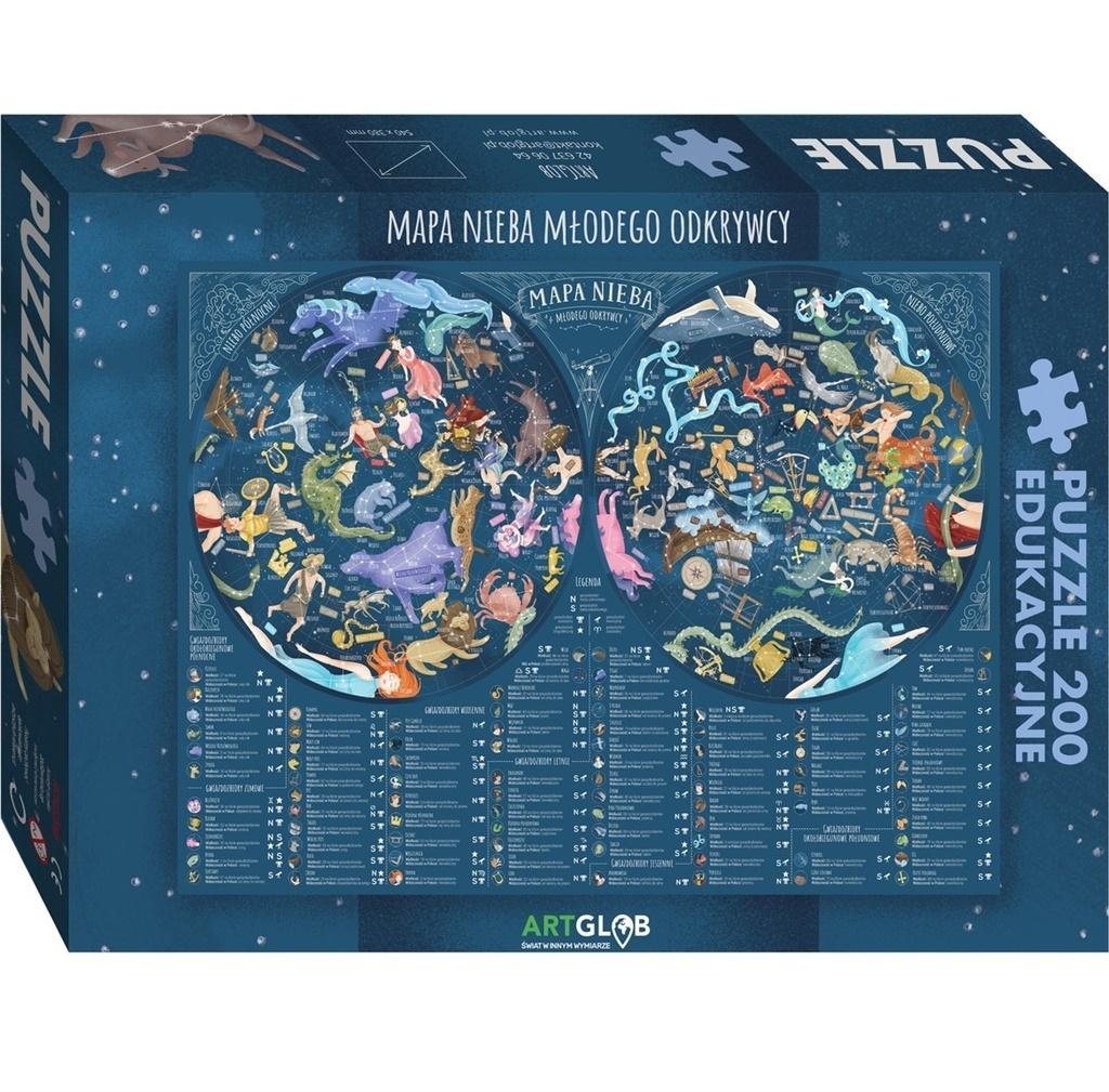 Puzzle 200 - Mapa Nieba Młodego Odkrywcy