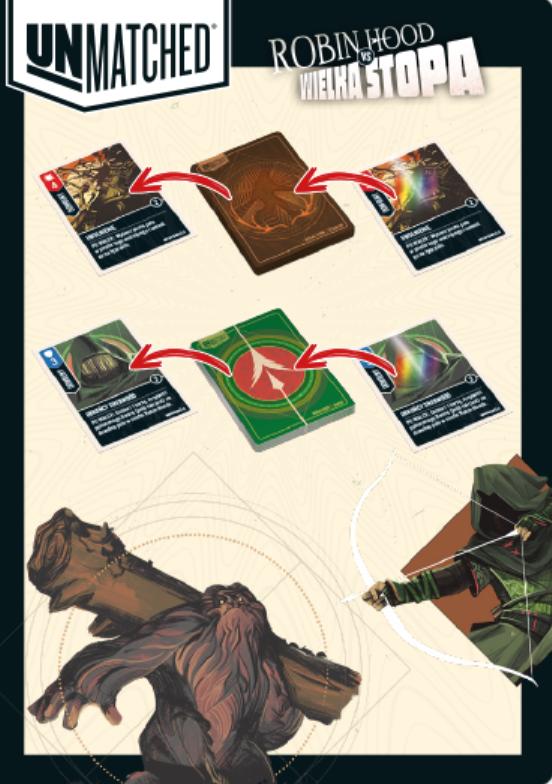 Unmatched Robin Hood vs Wielka Stopa - karty (dodatek do gry)