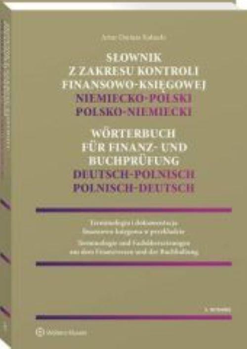 Słownik z zakresu kontroli finansowo-księgowej Niemiecko-polski, polsko-niemiecki