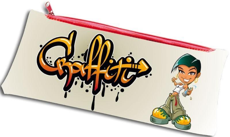 Piórnik PP z nadrukiem na suwak Graffity