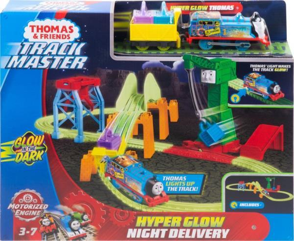Fisher-Price Tomek i przyjaciele TM Hyper Glow Nocna dostawa Tor świecący w ciemności GGL75 MATTEL