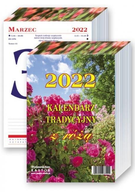 Kalendarz 2022 Tradycyjny z różą KASTOR