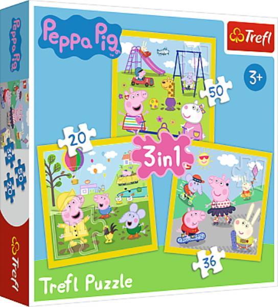 Puzzle 3w1 Wesoły dzień Peppy 34849 Trefl p8