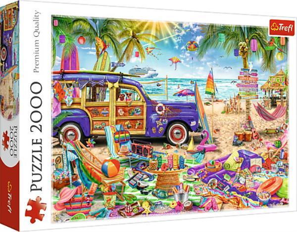 Puzzle 2000el Tropikalne wakacje 27109 Trefl p6