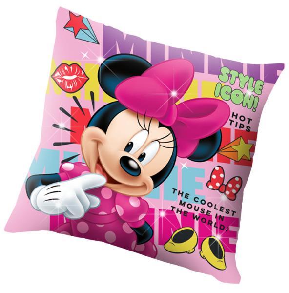 Poduszka 40x40cm, poliester, światełka LED Minnie Mouse WD20877 Kids Euroswan mix