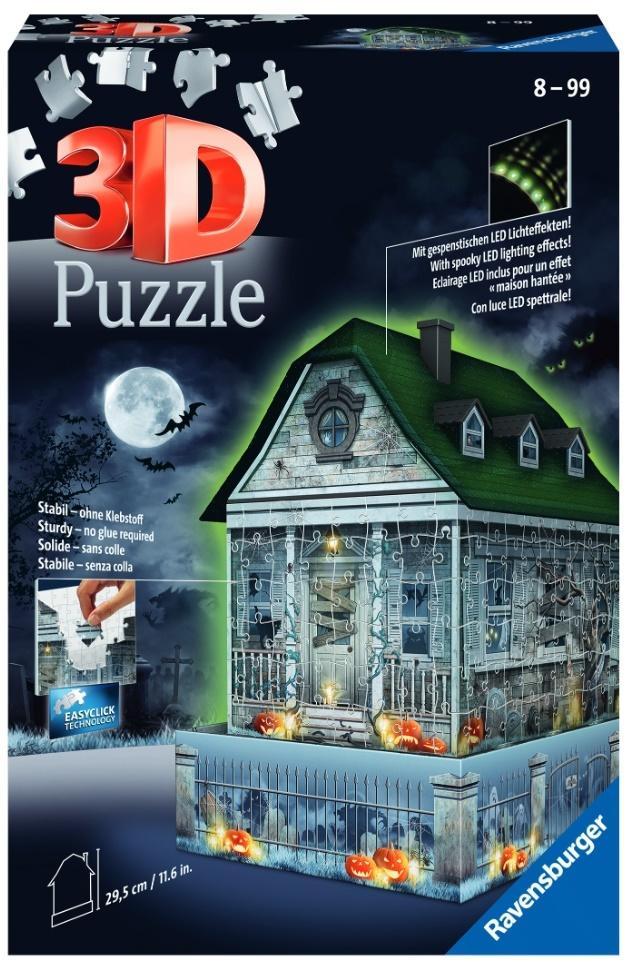 Puzzle 3D 216 Nawiedzony dom świecący w ciemności