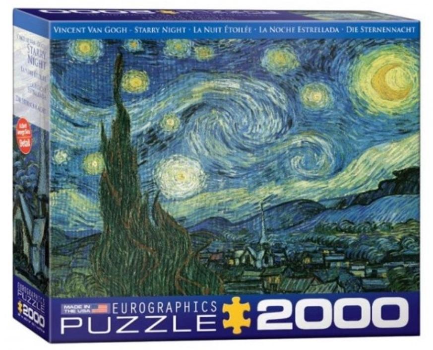Puzzle 2000 Gwiaździsta noc, Vincent van Gogh