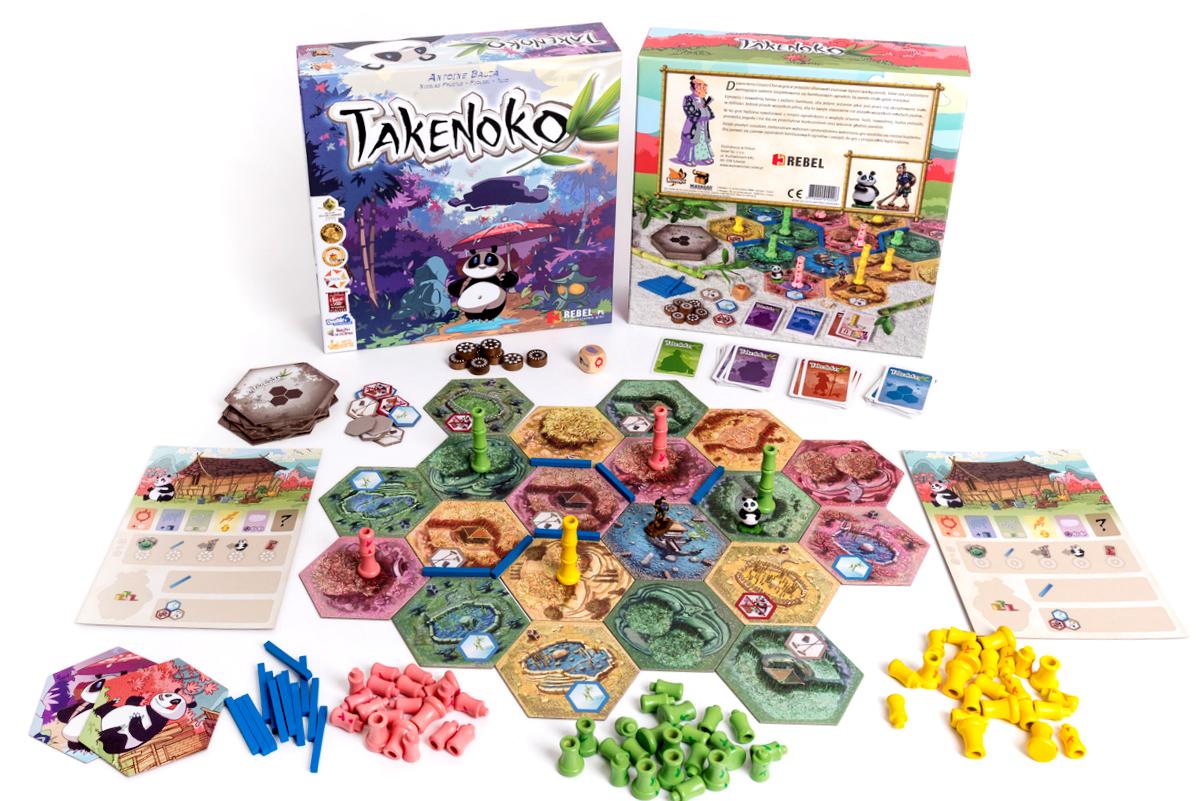 Takenoko gra planszowa Rebel zawartość