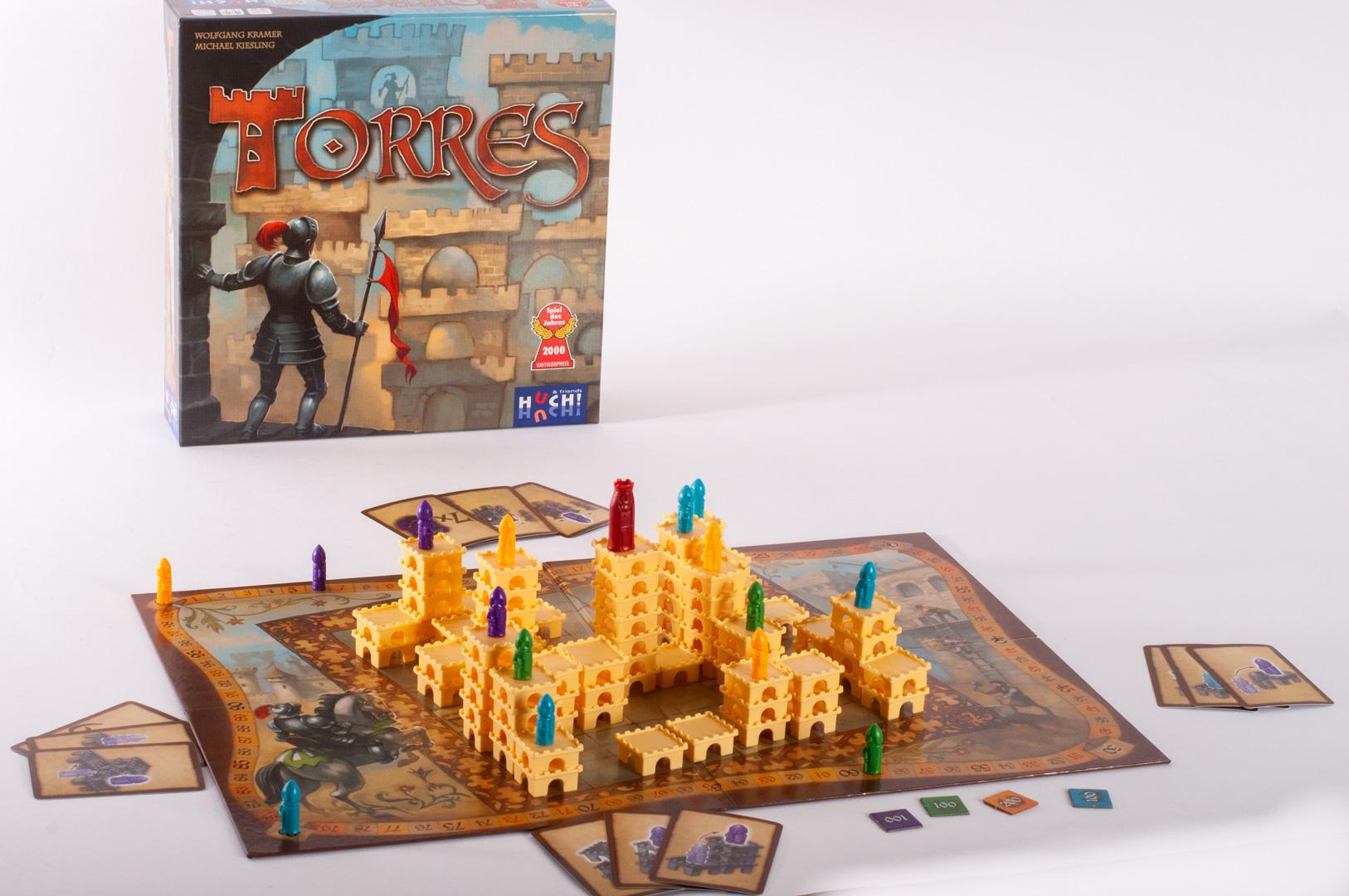gra planszowa Torres zawartość i plansza